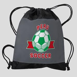 Peru Soccer Drawstring Bag