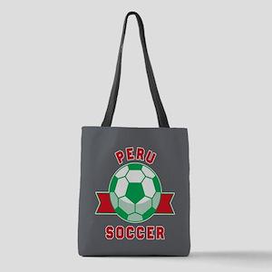 Peru Soccer Polyester Tote Bag