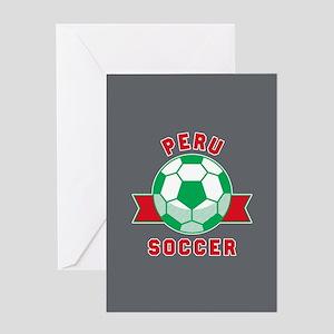 Peru Soccer Greeting Card