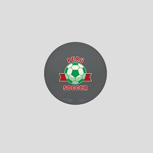 Peru Soccer Mini Button