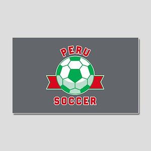 Peru Soccer Car Magnet 20 x 12