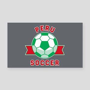 Peru Soccer Rectangle Car Magnet