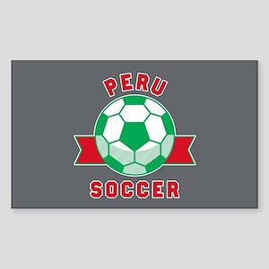 Peru Soccer Sticker (Rectangle)