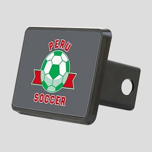 Peru Soccer Rectangular Hitch Cover