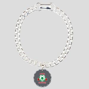 Peru Soccer Charm Bracelet, One Charm