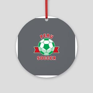 Peru Soccer Round Ornament