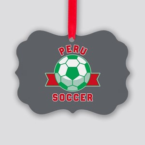 Peru Soccer Picture Ornament