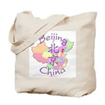 Beijing China Map Tote Bag