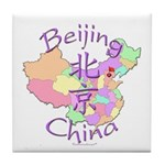 Beijing China Map Tile Coaster