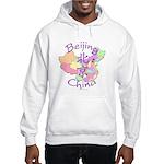 Beijing China Map Hooded Sweatshirt