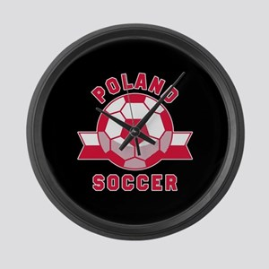 Poland Soccer Large Wall Clock
