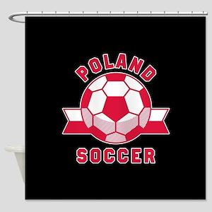 Poland Soccer Shower Curtain