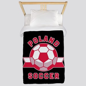 Poland Soccer Twin Duvet Cover