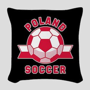 Poland Soccer Woven Throw Pillow