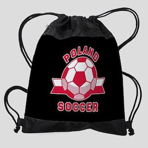 Poland Soccer Drawstring Bag