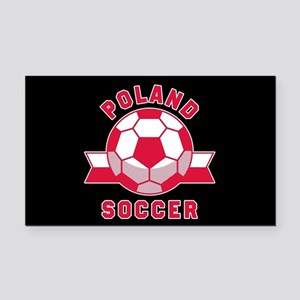 Poland Soccer Rectangle Car Magnet