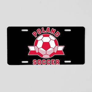 Poland Soccer Aluminum License Plate