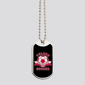 Poland Soccer Dog Tags