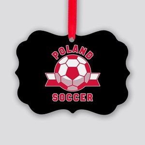 Poland Soccer Picture Ornament
