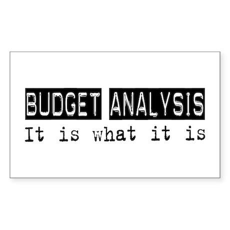 Budget Analysis Is Rectangle Sticker 50 pk)