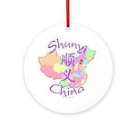 Shunyi China Map Ornament (Round)