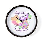 Shunyi China Map Wall Clock