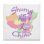 Shunyi China Map Tile Coaster