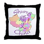 Shunyi China Map Throw Pillow