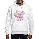 Shunyi China Map Hooded Sweatshirt