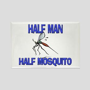 Half Man Half Mosquito Rectangle Magnet