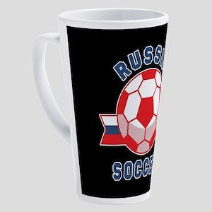 Russia Soccer 17 oz Latte Mug