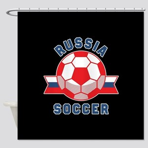 Russia Soccer Shower Curtain