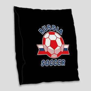Russia Soccer Burlap Throw Pillow