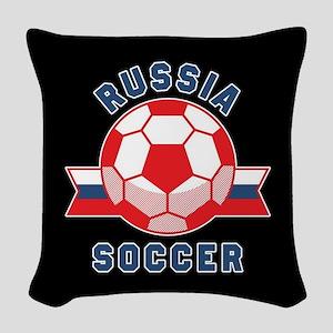 Russia Soccer Woven Throw Pillow