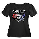 21st Century America Women's Plus Size Scoop Neck