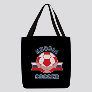 Russia Soccer Polyester Tote Bag