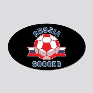 Russia Soccer 20x12 Oval Wall Decal