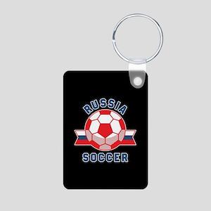 Russia Soccer Aluminum Photo Keychain