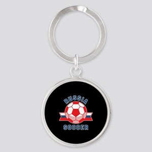 Russia Soccer Round Keychain