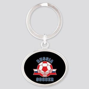 Russia Soccer Oval Keychain
