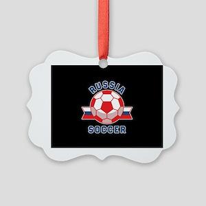 Russia Soccer Picture Ornament