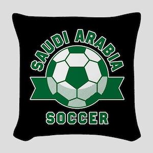Saudi Arabia Soccer Woven Throw Pillow