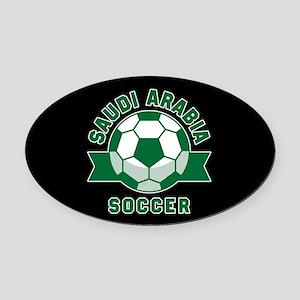 Saudi Arabia Soccer Oval Car Magnet