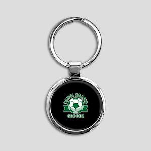 Saudi Arabia Soccer Round Keychain