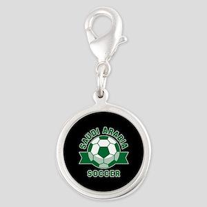 Saudi Arabia Soccer Silver Round Charm