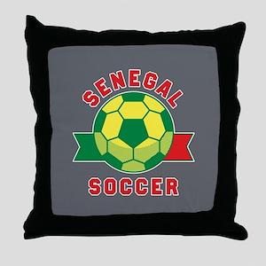 Senegal Soccer Throw Pillow