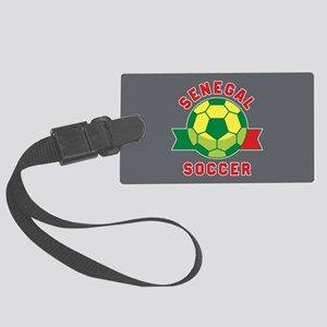 Senegal Soccer Large Luggage Tag