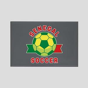 Senegal Soccer Rectangle Magnet