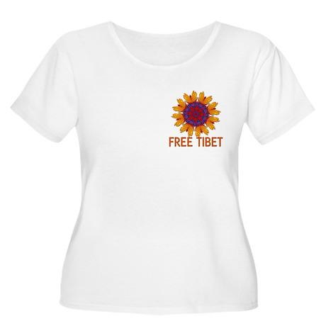 Fractal free Tibet Women's Plus Size Scoop Neck T-