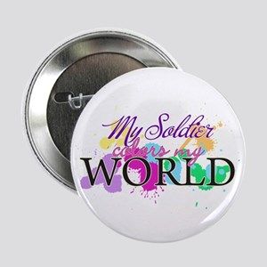 """My Soldier Colors My World 2.25"""" Button"""